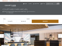 Courtyard by Marriott Paris Arcueil website screenshot