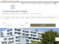 AC Hotel by Marriott Paris Porte Maillot website screenshot