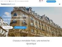 HOME SELECT CHASSEUR IMMOBILIER website screenshot