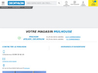 Decathlon Mulhouse - Dornach website screenshot