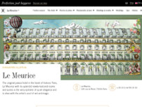 Le Meurice website screenshot