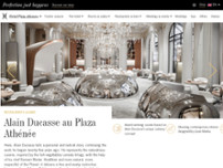 Alain Ducasse au Plaza Athénée website screenshot