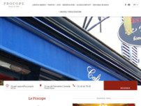 Le Procope website screenshot