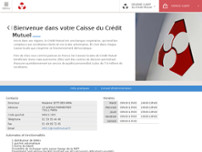 Crédit Mutuel Paris 11 website screenshot