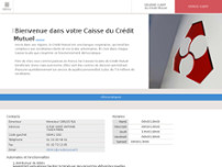 Crédit Mutuel Paris 3/4 Le Marais Bastille website screenshot
