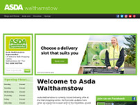 Asda Walthamstow Supermarket - Temporarily Closed website screenshot
