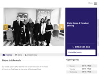 Slater Hogg & Howison Estate and Letting Agents Stirling website screenshot