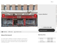 Taylors Estate and Lettings Agent Bedford website screenshot