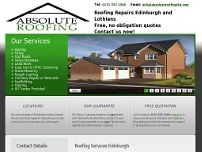 Absolute Roofing Edinburgh website screenshot