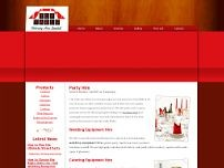 Top Table Catering Hire Limited website screenshot