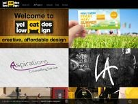 Yellow Cat Design website screenshot
