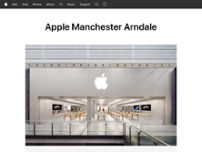 Apple Manchester Arndale website screenshot