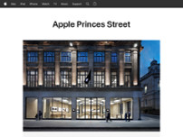 Apple Princes Street website screenshot