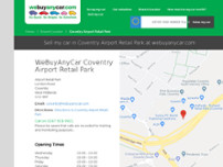 We Buy Any Car Coventry Airport Retail Park website screenshot