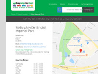 We Buy Any Car Bristol Imperial Park website screenshot