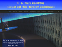 A R Clark Upholstery website screenshot