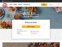 Brewers Fayre Walsall Town Centre website screenshot