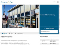 Carson & Co. Estate Agents Camberley website screenshot