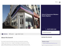 King & Chasemore Estate and Letting Agents Western Road, Brighton website screenshot