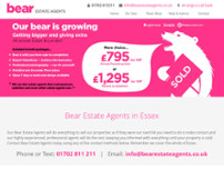 Bear Estate Agents website screenshot