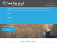 DNA Electrical Contractors Ltd website screenshot