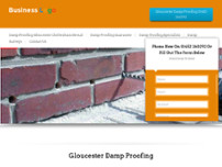 Gloucester Damp Proofing website screenshot