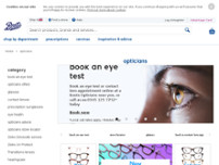 Boots Opticians website screenshot