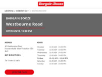 Bargain Booze website screenshot