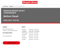 Bargain Booze Select Convenience website screenshot
