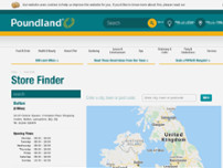 Poundland website screenshot