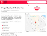 British Heart Foundation Furniture & Electrical website screenshot