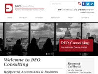 DFO Consulting website screenshot