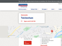 Nationwide Building Society website screenshot