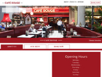 Café Rouge - Manchester website screenshot