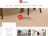 Masons Right Price Carpets & Beds website screenshot