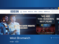 ODEON West Bromwich website screenshot
