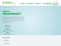 Yorkshire Building Society website screenshot