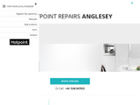 Hotpoint Repairs Anglesey website screenshot