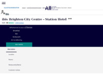 Hotel ibis Brighton City Centre - Station website screenshot
