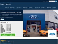 Evans Halshaw Ford Transit Centre Lincoln website screenshot