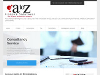 A to Z Finance Solutions Ltd website screenshot