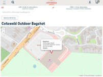 Cotswold Outdoor Bagshot website screenshot