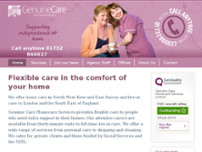 Genuine Care Homecare Services Ltd website screenshot