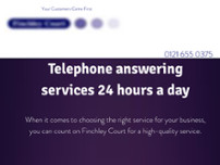 Finchley Court 24/7 Telephone Answering website screenshot