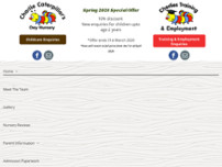 Charlie Caterpillar's Day Nursery Ltd website screenshot