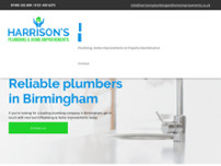 Harrison's Plumbing & Home Improvements website screenshot