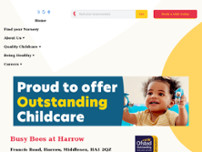 Busy Bees at Harrow website screenshot