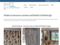 Ines Interiors website screenshot