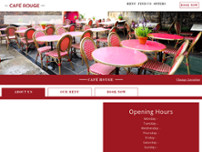 Café Rouge - Oxford website screenshot