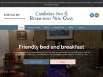 Cambrian Inn & Restaurant New Quay website screenshot